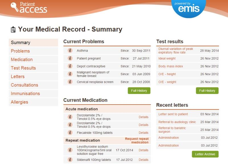 how to look up your medical records online